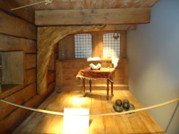 a cabin replica